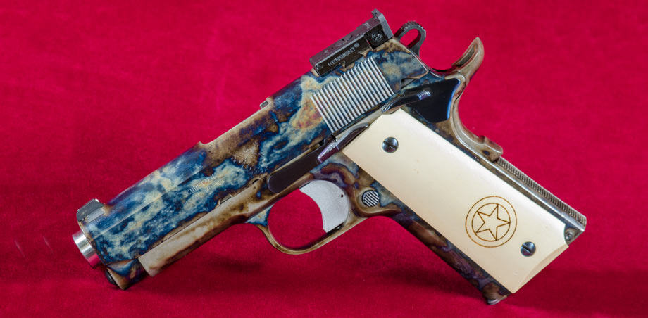Color Case Hardening Semi Automatic Pistol Blue Wyoming Armory